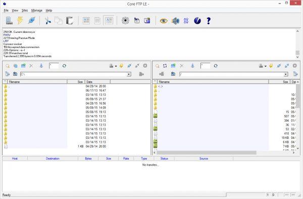 Core FTP Screenshot