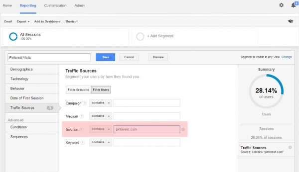 Tutorial on Google Analytics Advanced Segments